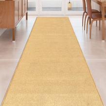 Beige Solid Plain Rubber Backed Non-Slip Hallway Stair Kitchen Runner Rug Carpet 31in X 5ft