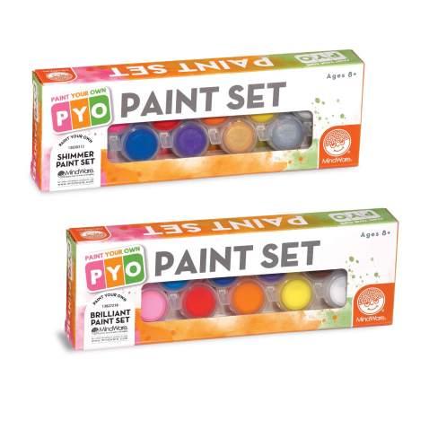 MindWare Paint Your Own Porcelain Paints kit: Brilliant Colors and Shimmer Colors