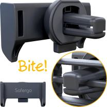 Safergo Metal Clip Never Fall Off Patented Car Air Vent Phone Holder for Bumpy Roads,TT-02