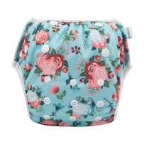Babygoal Baby Swim Diaper for Swim Lesson, Reusable Washable Adjustable Swim Underwear, Best Baby Shower Gift 0-3 years ZFSW37