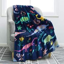 "Jekeno Cartoon Dinosaurs Blanket Throw Print Soft Cozy Blanket for Bed Couch Sofa Chair Kids Gift 50""x60"""