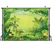LYWYGG 10x8FT Vinyl Animation Jungle Photography Backdrops Photo Background Kids Photo Studio Props Backdrops Safari Newborn Photography Props Party Backdrop Safari Party Decorations Baby CP-35-1008