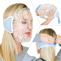 Face Ice Pack - Reusable Gel Face Masks for cooling migraine relief, sinus pain, depuffing eyes and cold headache relief. Facial Mask covers Full Face (by Magic Gel)
