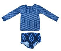 JOY Swimsuit for Baby Boy Girl Long Sleeve Bathing Suit UPF 50+ Sun Protection 2 Piece Swimwear Rash Guard Athletic Suits