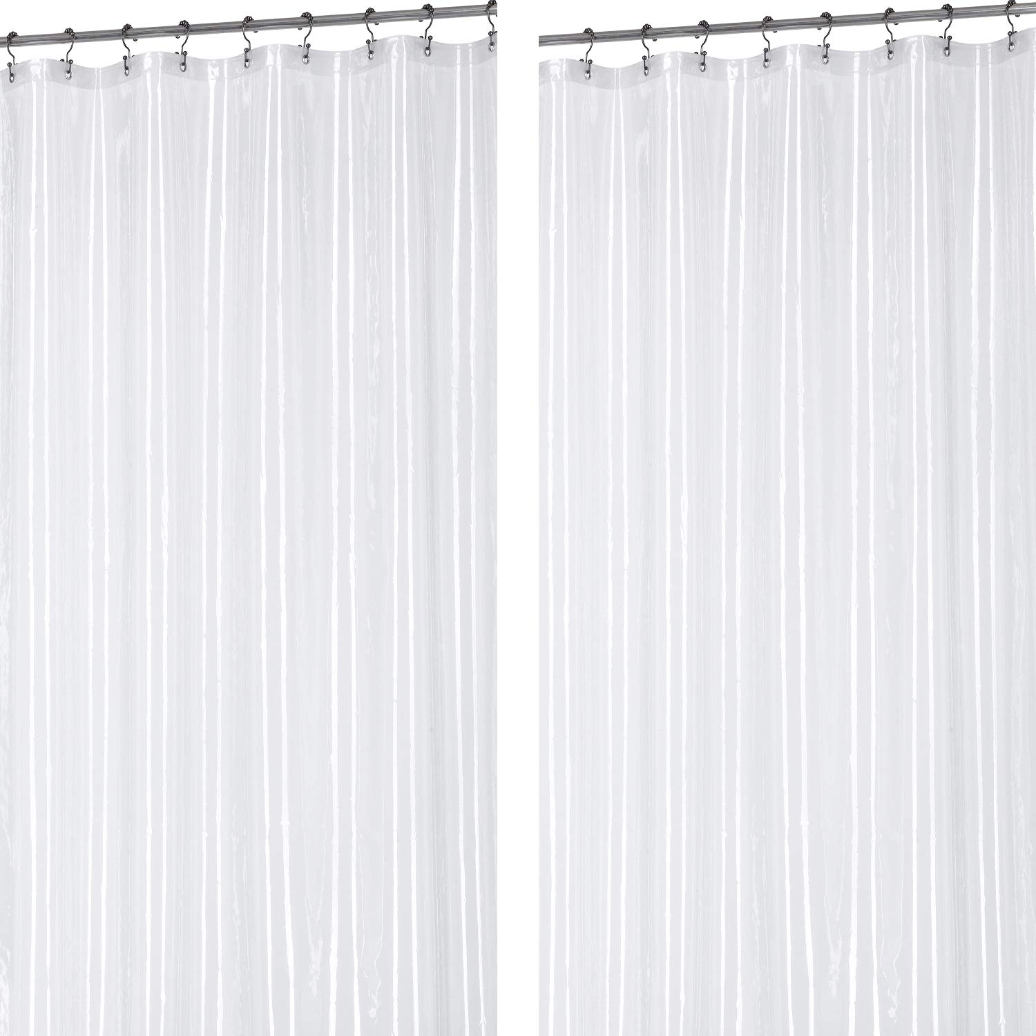Utopia Bedding 72 x 72 Inch Mildew Resistant 10 Gauge EVA Shower Curtain Liner, Eco Friendly - Anti-Bacterial, Non - Toxic Odorless with Anti Corrosion Grommets, 2 Pack
