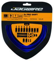 Jagwire - Universal 2X Pro Shift Kit |for Road, MTN, and Gravel Bike | SRAM and Shimano Shifter Compatible, Polished Stainless Cables, 10 Color Options