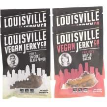 Louisville Vegan Jerky - Smoked Black Pepper & Maple Bacon 4-Pack, Vegetarian & Vegan Friendly Jerky, Non-GMO Soy Protein, Gluten-Free Ingredients (3 Ounce, Pack of 4)