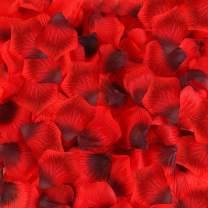 BESKIT 3000 Pcs Dark Red Artificial Rose Petals Unscented Non-Woven Silk Flower Petals for Valentine Day Wedding Flower Decoration