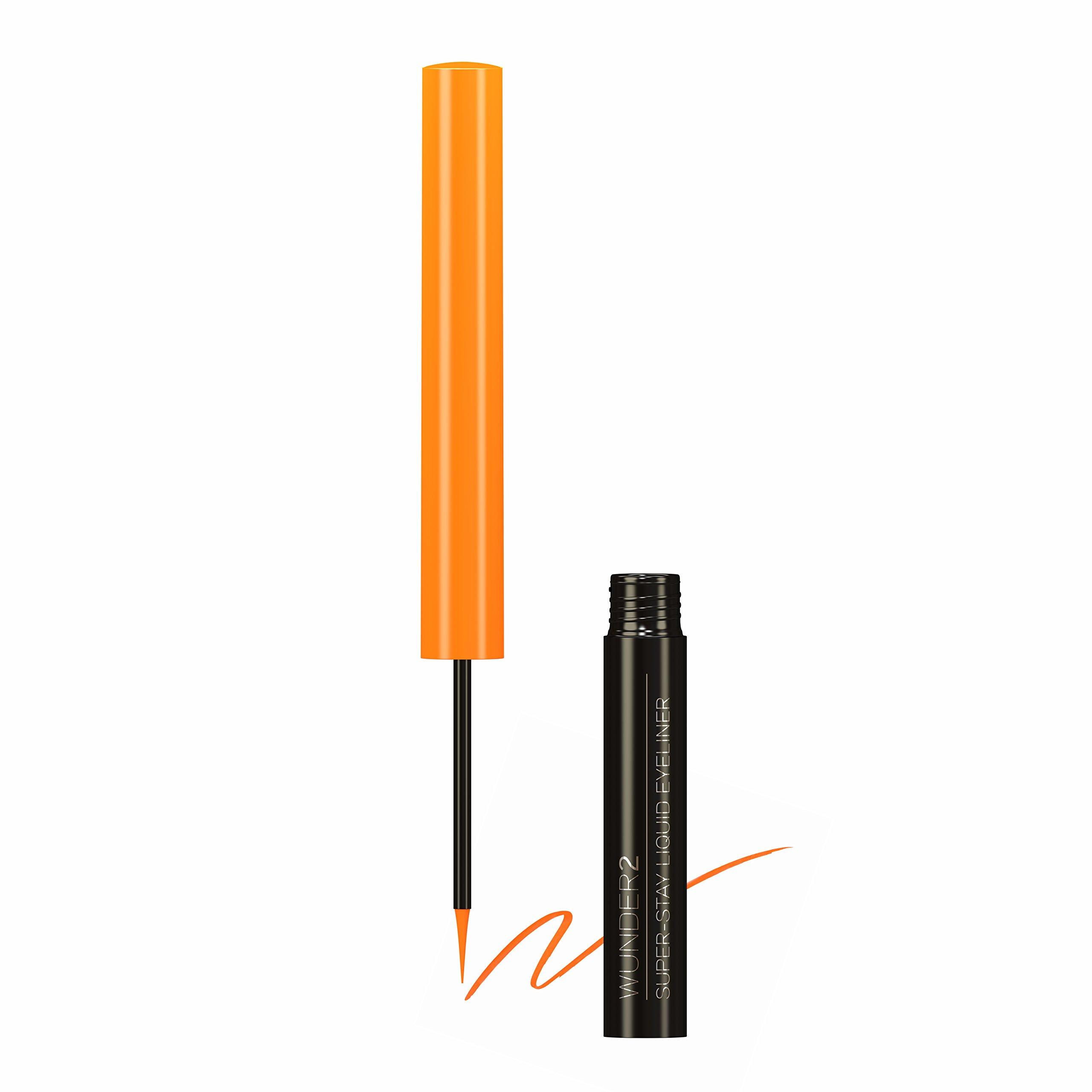 WUNDER2 Super-stay Long Lasting & Waterproof Liquid Eyeliner, Orange Pop, 0.058 fl. oz.