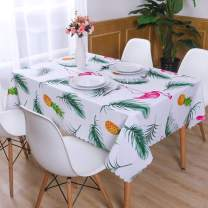Hiasan PVC Rectangle Tablecloth 100% Waterproof Spillproof Stain Resistant Wipeable Vinyl Table Cloth for Outdoor Picnic Kitchen Dining, 54 x 108 Inch, Pineapple