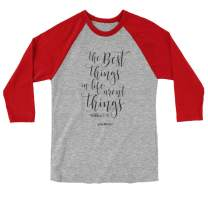 Grace & Truth Women's The Best Things T-Shirt - Grey/Red -