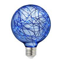 Judy Lighting - G95 LED Edison Bulb Decorative Starry String Light Bulb Glass Fairy Light Bulb(Blue), Christmas Light Holiday Decoration