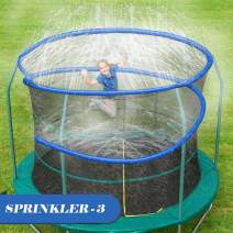 ARTBECK Thicken Trampoline Sprinkler, Outdoor Trampoline Water Play Sprinklers for Kids, Fun Water Park Summer Toys Trampoline Accessories ( 39 ft, Blue )