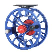Maxcatch Toro Series Fly Fishing Reel with Large Arbor, CNC-Machined Aluminum Alloy Body: 3/4, 5/6, 7/8 wt in Blue, Green, or Black