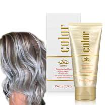 Temporary Hair Color Wax Gray Unisex Washable Hair Dye Wax Plant Formula DIY Natural Hairstyle Hair Color Cream for Party, Festival&Cosplay (130g)