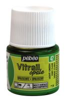 Pebeo Vitrail, Stained Glass Effect Paint, 45 ml Bottle - Light Green