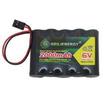 QBLPOWER 6V 2000mAh NiMH RX Battery Packs with Hitec Connector for RC Aircrafts and Walking Robot Rechargeable