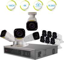 REVO America Ultra Plus 16 Channel NVR Surveillance System with 10 Security Cameras (White)