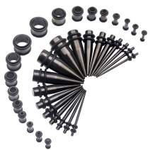 14G-00G 36pcs Ear Gauges Stretching Kit Surgical Steel Tapers Tunnels Plugs Piercing Set Body Jewelry