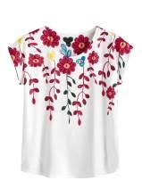 Milumia Women's Street Style Printed Tee Short Sleeve Summer Casual T-Shirt Top