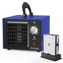 ShimYingfa Ozone Generator with Replaceable Ozone Plates,12000mg/H High Capacity Industrial Ozone Generator Machine,Commercial Deodorizer Ozone Machine for Rooms/Smoke/Cars/Pets