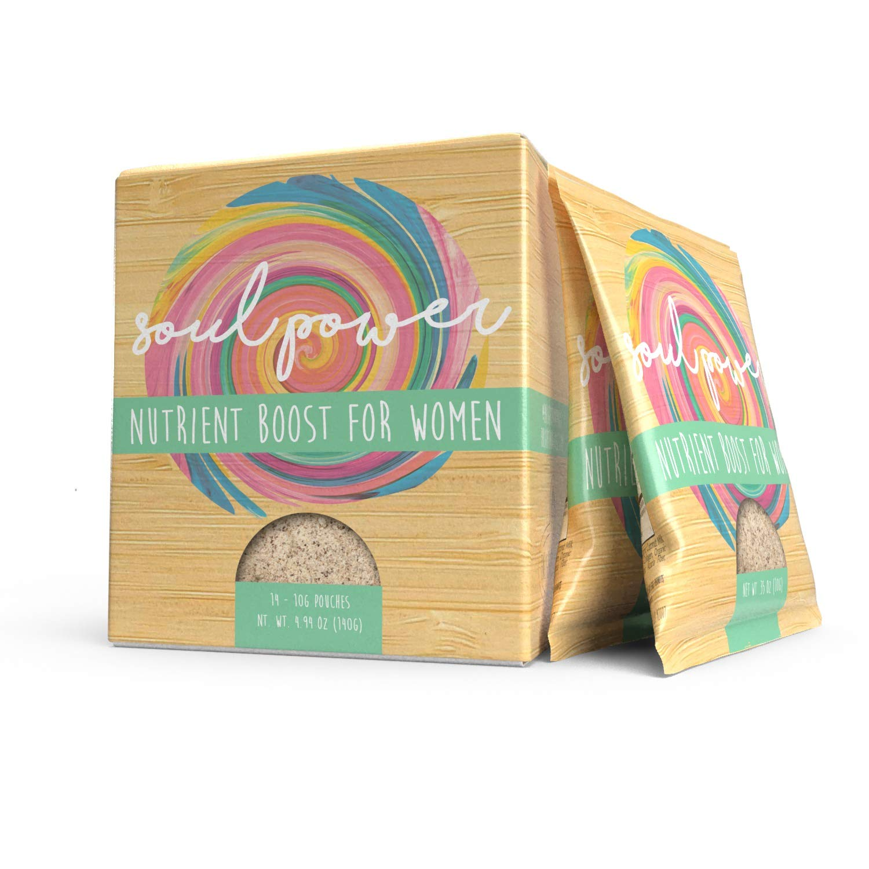 Soul Power Nutrient Boost for Women - Organic Coconut Milk, Organic Blackstrap Molasses, Grass Fed Collagen (Single-Serving Box (14 Packets))