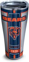 Tervis 1317587 NFL Chicago Bears Blitz Stainless Steel Insulated Tumbler with Clear and Black Hammer Lid, 30 oz, Silver