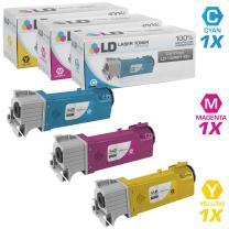 LD Compatible Toner Cartridge Replacement for Xerox Phaser 6128 (Cyan, Magenta, Yellow, 3-Pack)