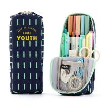 ANGOOBABY Standing Pencil Case Pencil Pouch Pen Bag for Teen Girl Boy Students (Youth Navy)