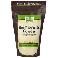 NOW Foods, Beef Gelatin Powder, Natural Thickening Agent, Source of Protein, 1-Pound (Packaging may vary)