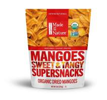 Made in Nature Organic Dried Mangoes, 8 Ounce (Pack of 1) - Non-GMO Vegan Dried Fruit Snack
