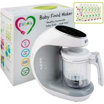 Baby Food Maker   Baby Food Processor Blender Grinder Steamer   Cooks & Blends Healthy Homemade Baby Food in Minutes   Self Cleans   Touch Screen Control   6 Reusable Food Pouches