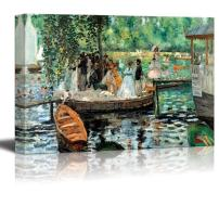 "wall26 - La Grenouillere by Pierre-Auguste Renoir - Canvas Print Wall Art Famous Oil Painting Reproduction - 24"" x 36"""