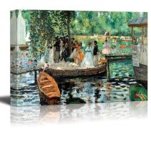 "wall26 - La Grenouillere by Pierre-Auguste Renoir - Canvas Print Wall Art Famous Oil Painting Reproduction - 24"" x 36"""