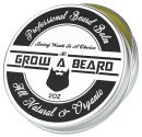 Grow A Beard Balm For Men Moisturizer 2oz | Leave-in Beard Conditioner & Hair Softener | Beard Butter & Mustache Grooming Great For Smooth & Styling | Organic Beard Wax With Argan & Jojoba Oils.