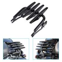 DSISIMO Detachable Black Stealth Mounting Luggage Rack Fits For Touring Road King Road Glide Street Glide Electra Glide FLHR FLHT FLHX FLTR 2009-2020