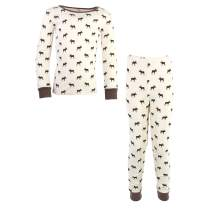 Touched by Nature Boys' Unisex Kids, Toddler and Baby Tight-fit Pajamas, Moose