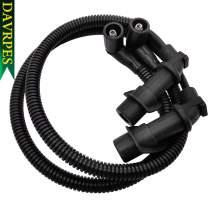 DAVRPES 2Pcs 4011364 4011365 Ignition Coil Spark Plug Cap & Wire For Polaris RZR HD XP Sportsman 800/700 F Replace# 4012439|4011060|4011059|4010909