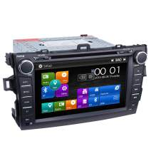 Corolla Car Stereo DVD Player-Double Din in-Dash, Multimedia Receiver with 8 Inches Touchscreen, Built-in Bluetooth, GPS Navi, USB Port, SD, AUX Input, Radio Receiver, Applicable Models: 2007-2011 (A)