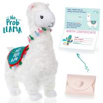 llama stuffed animal - The Original No Prob Llama lama alpaca plush animals toy. Perfect Llama gifts for Baby Showers, Birthdays, Graduation or Christmas. Cute, Fun, Super Soft, and Pre Wrapped!