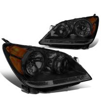 DNA Motoring Smoked amber HL-OH-044-SM-AM Pair of Headlight Assembly [08-10 Honda Odyssey]