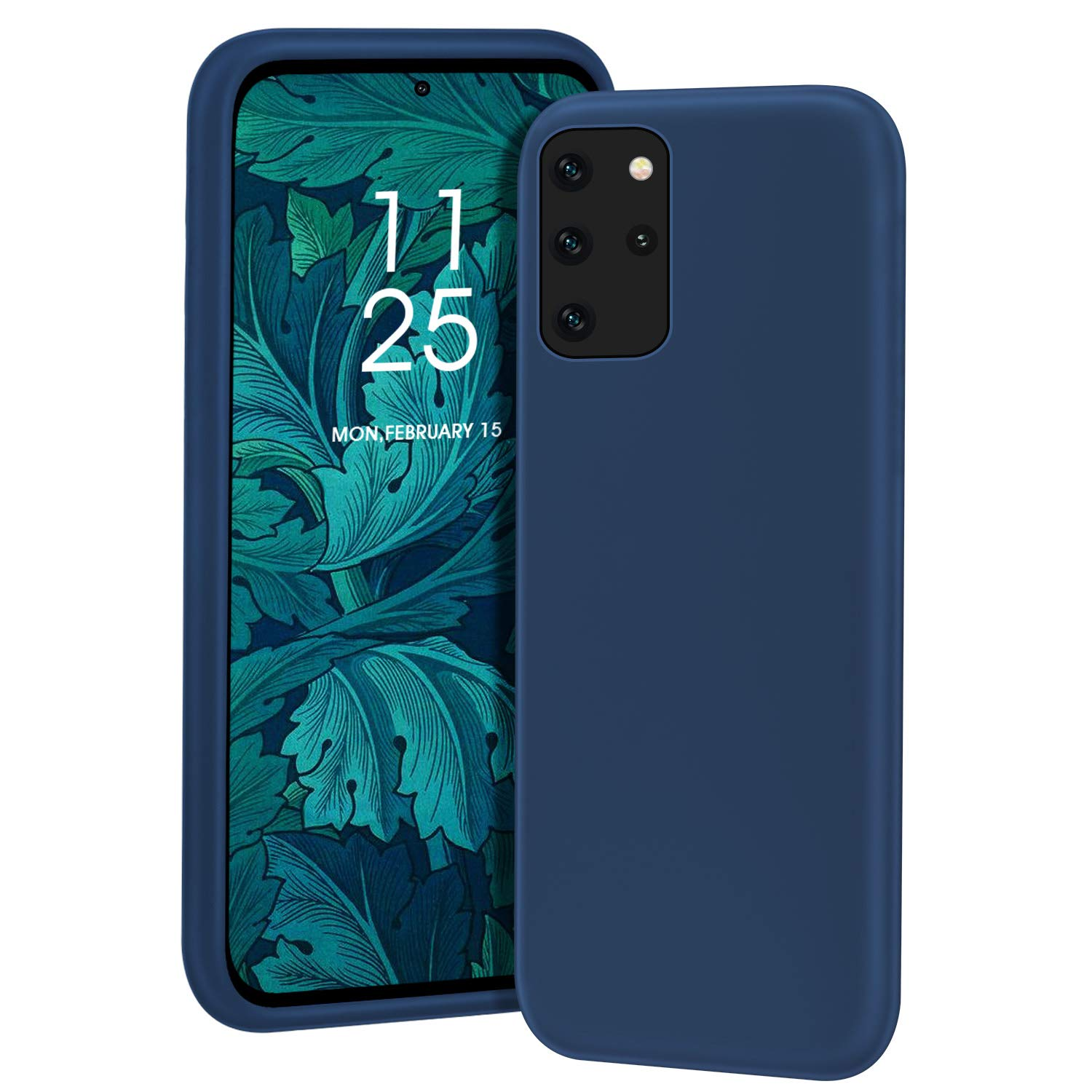 MILPROX Galaxy S20 Plus Case, Liquid Silicone Gel Rubber Shockproof Slim Shell with Soft Microfiber Cloth Lining Cushion Cover for Galaxy S20 Plus Phone 6.7 inches(2020)- Blue Horizon