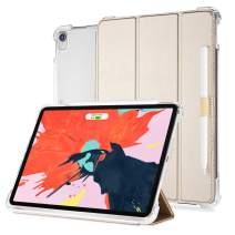 Valkit iPad Pro 11 Case 2018 (1st Gen, Old Model), Support Apple Pencil Charging, Protective Smart Folio Stand Cases with Auto Sleep/Wake for Apple iPad Pro 11 Inch 2018, Gold