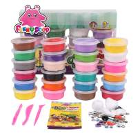 Funny Poop Air Dry Clay 24 Colors Modeling Clay for Kids, Model Magic Clay with Tools Instructions Molding Clay STEM Toys Best Gift for Boys Girls