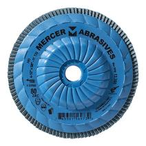 """Mercer Industries 332T080 High Density Type 29, 4-1/2""""x 5/8""""-11 Grit 80 Zirconia Flap Disc Trimmable (10 Pack)"""