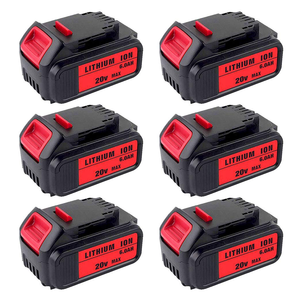 6-PACK 6000mAh Replacement for DeWalt 20V MAX XR Battery Lithium Ion DCB205 DCB204 DCB200 DCB203 DCB206 DCB204BT-2 DCB201