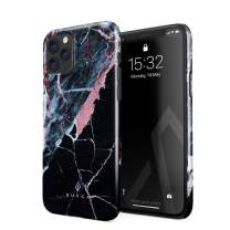 BURGA Phone Case Compatible with iPhone 11 PRO MAX - Hidden Beauty Light Pink Peach and Black Marble Cute Case for Woman Thin Design Durable Hard Plastic Protective Case