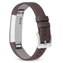UMAXGET Compatible for Fitbit Alta & Fitbit Alta HR Leather Band, Genuine Leather Replacement Wristband for Alta Women Men
