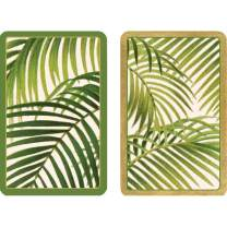 Caspari Under The Palms Large Type Playing Cards - 2 Decks Included