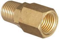 "Dixon D344R Brass Air Hose Fitting, In-Line Swivel, 1/4"" NPT Male x 1/4"" NPT Female, 150 psi Pressure"